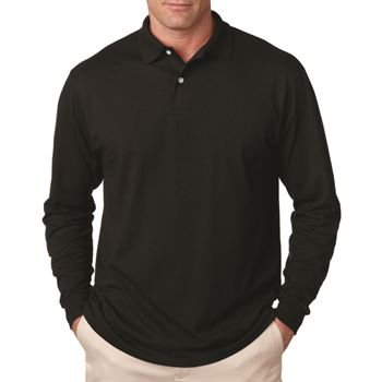 Jerzees 5.6-oz., 50/50 Long-Sleeve Jersey Polo With SpotShield ™