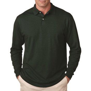 Jerzees 5.6-oz., 50/50 Long-Sleeve Jersey Polo With SpotShield ™