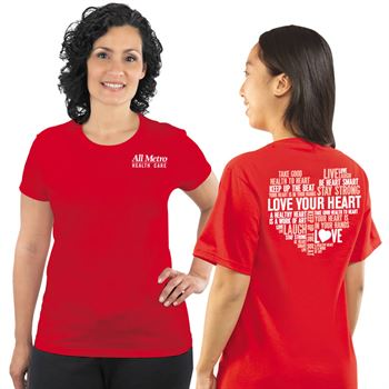 Heart Health Awareness 2-Sided Custom T-Shirt - Personalization Available