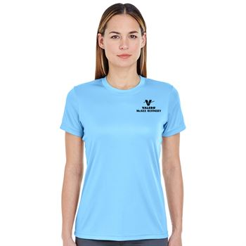 Women's Ultraclub® Cool & Dry Basic Performance T-Shirt - Silkscreen Personalization Available