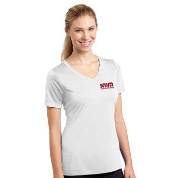 Women's Sport-Tek® Competitor Short-Sleeve V-Neck T-Shirt - Personalization Available