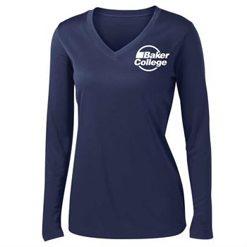 Women's Sport-Tek Competitor® Long-Sleeve V-Neck T-Shirt - Personalization Available