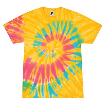 Heavy 100% Cotton 5-oz. Adult Fully Custom Tie-Dye T-Shirt