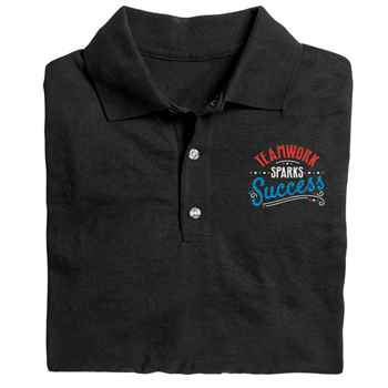 Teamwork Sparks Success Gildan® DryBlend Polo Shirt - Personalization Available