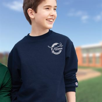 Champion® Double Dry Youth Eco Crewneck Sweatshirt - Personalization Available