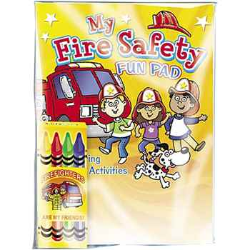 My Fire Safety Fun Pad With Crayons Value Kit