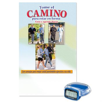 Multi-Function Pedometer With Walk Your Way To Fitness Walker's Guide (Spanish)