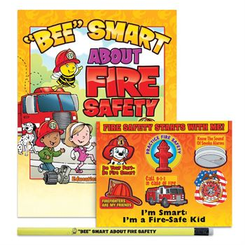 """BEE"" Smart About Fire Safety Pre-K Thru Kindergarten Value Kit"