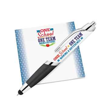 One School, One Team: Making A Difference Sticky Pad & Pen Combo Set