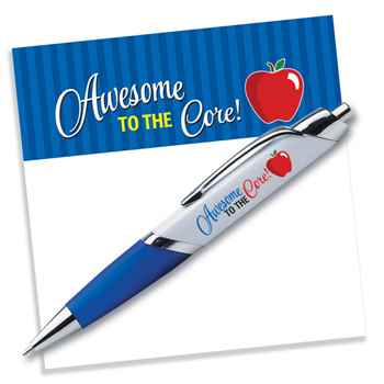 Awesome To The Core Sticky Pad & Pen Set
