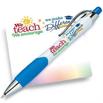 We Teach We Encourage We Make A Difference Sticky Pad & Pen Combo Set