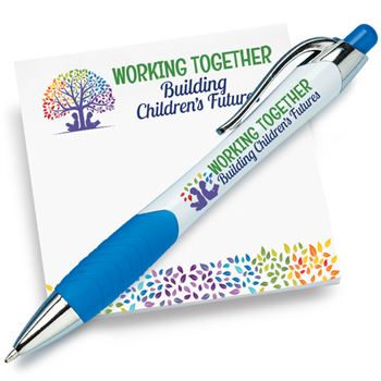 Working Together Building Children's Futures Sticky Pad & Pen Combo Set