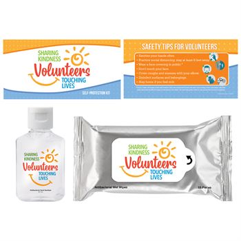 Volunteers: Sharing Kindness, Touching Lives Positive Message Self-Protection Kit