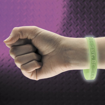 Glow-In-The-Dark Silicone Bracelet With Halloween Safety Card