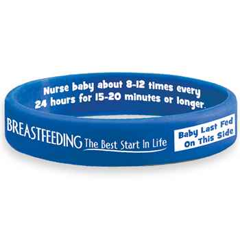 Breastfeeding...The Best Start In Life Silicone Bracelet With Card