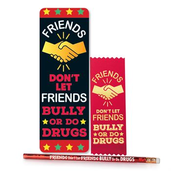 Friends Don't Let Friends Bully Or Do Drugs Kit - Pack of 25