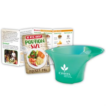 Be Wise About Portion Size Pocket Pal & Measuring Cup Gift Set - Personalization Available