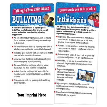 Talking To Your Child About Bullying 2-Sided Bilingual Glancer With Magnet - Personalization Available