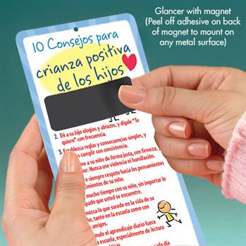 10 Tips For Positive Parenting Bilingual Glancer With Magnet - Personalization Available