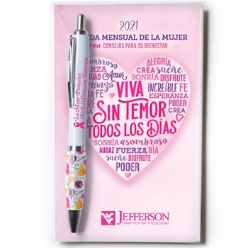 2021 Spanish Language Women's Monthly Planner & Pen Value Gift Sets - Personalization Available