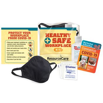 COVID-19 Healthy & Safe Workplace Kit - Personalization Available