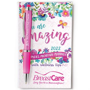 2022 English Language Women's Monthly Planner & Pen Value Gift Set- Personalization Available