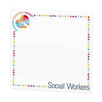 Social Workers: Passion, Purpose, Heart Sticky Pad