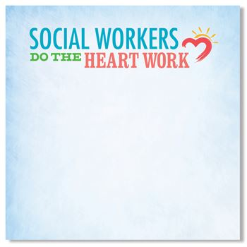 Social Workers Do The Heart Work Sticky Pads - Pack of 25
