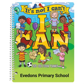 It's Not I Can't, It's I Can Primary School Student Planner - Personalization Available