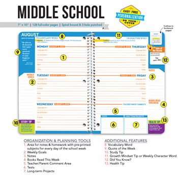 Be The Change You Wish To See In The World Middle School Student Planner