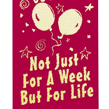 Celebrate Red Ribbon Week Not Just For A Week But For Life Satin Gold Foil-Stamped Self-Stick Ribbons