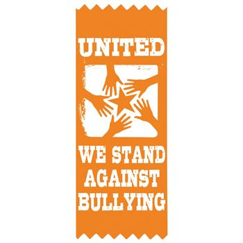 United We Stand Against Bullying Foil-Stamped Self-Stick Satin Ribbons