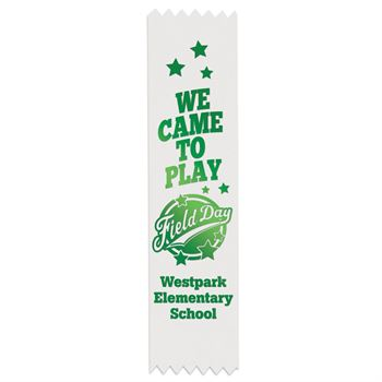 White Custom-Foil Ribbon With Self-Stick Backing - Personalization Available