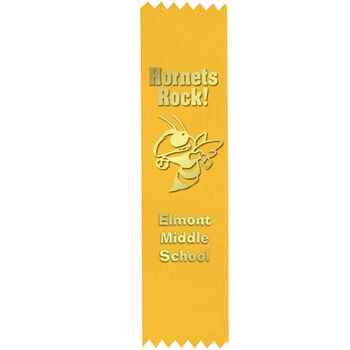 Yellow Custom-Foil Ribbon With Self-Stick Backing - Personalization Available