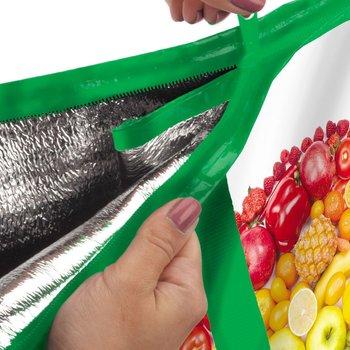 Fruits & Veggies Laminated Insulated Eco-Shopper Tote