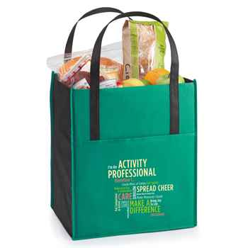 I'm An Activity Professional Therefore I... Arbor Green Jumbo Shopper Tote Bag
