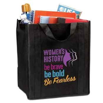 Women's History: Be Brave, Be Bold, Be Fearless Eco Friendly Tote Bag