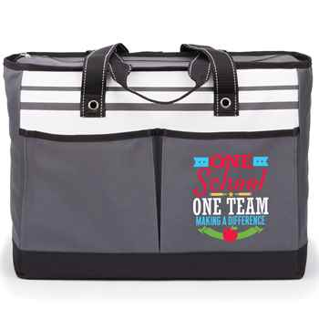 One School, One Team: Making A Difference Traveler Two-Pocket Tote Bag