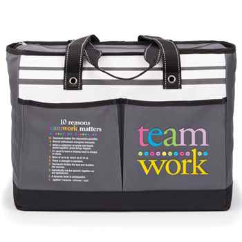 Teamwork Traveler Two-Pocket Tote Bag