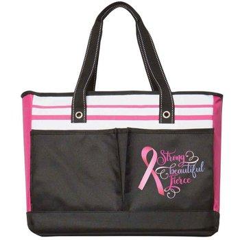 Strong, Beautiful, Fierce Traveler Two-Pocket Tote Bag