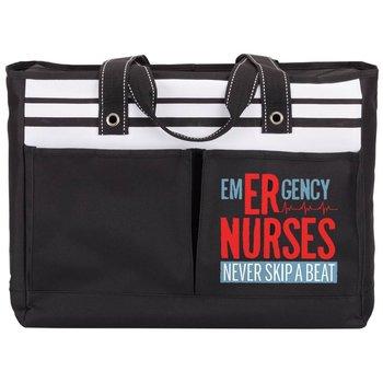 Emergency Nurses Never Skip A Beat Traveler Two-Pocket Tote Bag