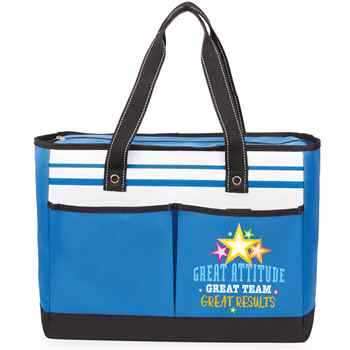 Great Attitude, Great Team, Great Results Traveler Two-Pocket Tote Bag