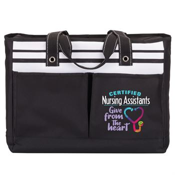 Certified Nursing Assistants Give From The Heart Traveler Two-Pocket Tote Bag
