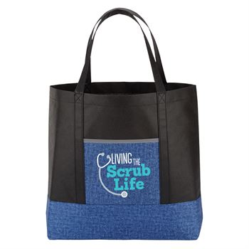 Living The Scrub Life Denim Non-Woven Tote Bag