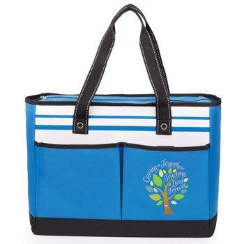 Caring Together Touching Lives Forever Traveler Two-Pocket Tote Bag