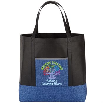 Working Together Building Children's Futures Denim Non-Woven Tote Bag
