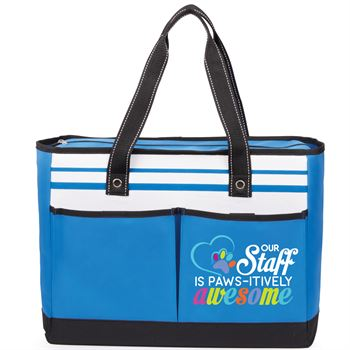Out Staff Is PAWS-itively Awesome Traveler Two-Pocket Tote Bag