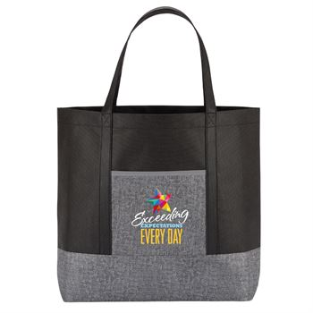 Exceeding Expectations Every Day Denim Non-Woven Tote Bag