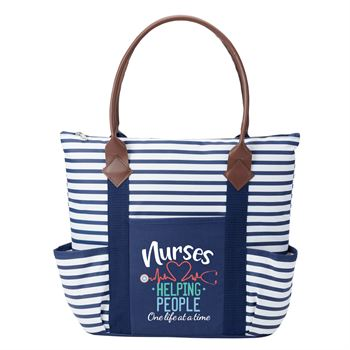 Nurses: Helping People One Life At A Time Nantucket Tote Bag