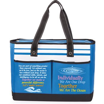 Individually We Are One Drop, Together We Are The Ocean Traveler Two-Pocket Tote Bag